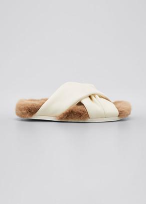 Simone Rocha Crisscross Comfy Flat Slide Sandals