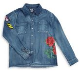 Flowers by Zoe Girl's Floral Denim Top