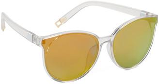 Cat Eye Frills du Jour Girls' Sunglasses clear - Transparent Mirrored Cat-Eye Sunglasses
