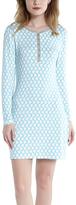 Blue & Gray Geometric Henley Nightgown