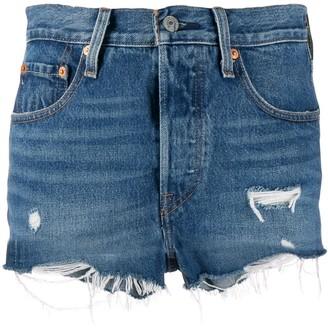 Levi's Distressed Mini Shorts