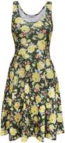 Tom's Ware Womens Casual Fit and Flare Floral Sleeveless Dress TWCWD054-US S