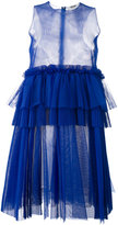 MSGM empire line sheer dress