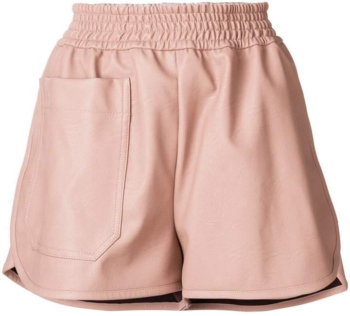 Stella McCartney faux leather shorts