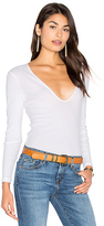 Lacausa Deep Scoop Long Sleeve Tee in White. - size M (also in XS)