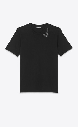 Saint Laurent T-shirt And Jersey Guitar-print T-shirt Black L
