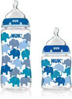 NUK 3-Pack Orthodontic Bottles with Blue Elephant Design