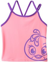 Angry Birds Stella Girls' Power Double Cross Tankini Top (7yrs16yrs) - 8132852