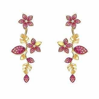 Swarovski Tropical Flower Pierced Earrings