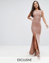Club L High Neck Maxi Dress