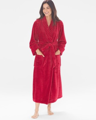 Soma Intimates Luxe Textured Long Robe Raphael Red
