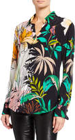 Robert Graham Gabriela Large Palm Floral Print Button-Down Shirt