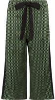 Fendi Printed Silk-satin Wide-leg Pants - Green