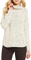 Eileen Fisher Peruvian Organic Cotton Knit Twist Turtleneck Top