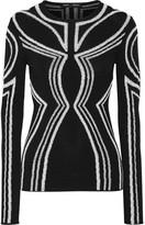 Proenza Schouler Embroidered Silk-blend Stretch-knit Top - Black