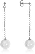 Antica Murrina Veneziana Perleadi White Murano Glass Bead Earrings