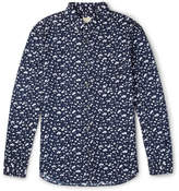 Club Monaco Slim-Fit Button-Down Collar Printed Cotton Shirt