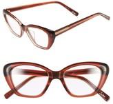 Women's Elizabeth And James 'Selma' 50Mm Optical Glasses - Shiny Crystal White