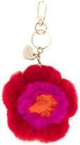 Twin-Set floral embroidered keyring