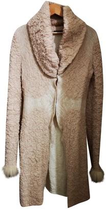 Roberto Cavalli Beige Wool Coats