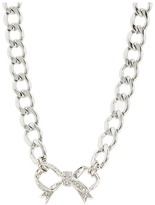 Juicy Couture Pave Bow Starter Necklace (Gold) - Jewelry