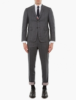 Thom Browne Charcoal Pinstriped Suit