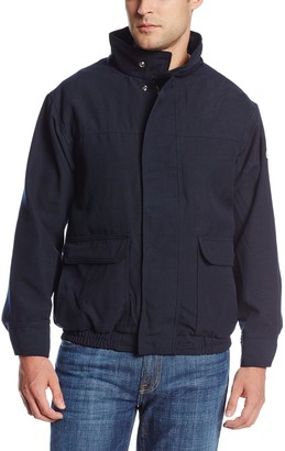 Bulwark Flame Resistant 6 oz Nomex IIIA Regular Lined Bomber Jacket with Two-Layer Stand-up Collar Two-Layer Concealed Snap Cuff
