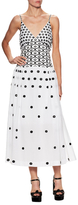 Temperley London Cotton Floral Embroidery Maxi Dress