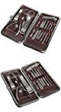 Wild-us 12 Piece Nail Care Personal Manicure & Pedicure Set, Travel & Grooming Kit Dragon Grain Style