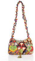 Mary Frances Multi-Color Beaded Applique Small Shelled Evening Handbag