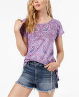 Lucky Brand Paisley-Print High-Low T-Shirt