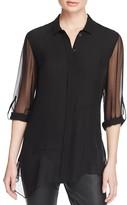Elie Tahari Gracelynn Asymmetric Silk Blouse - 100% Bloomingdale's Exclusive