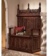 Toscano York Monastery Wood Storage Bench Design