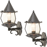 Rejuvenation Pair of HAMMERED ROMANCE REVIVAL LANTERN C1955