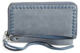 Rebecca Minkoff Women's Vanity Nubuck Leather Phone Wallet - Blue