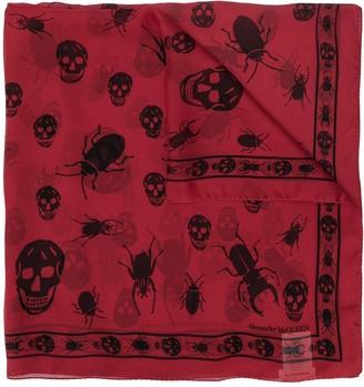 Alexander McQueen insect skull motif scarf