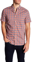 Jeremiah Thaddeus Plain Weave Plaid Short Sleeve Regular Fit Shirt