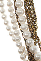 Lanvin Multistrand Swarovski Pearl and crystal necklace
