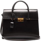 Saint Laurent Bianca Grained-leather Handbag - Womens - Black