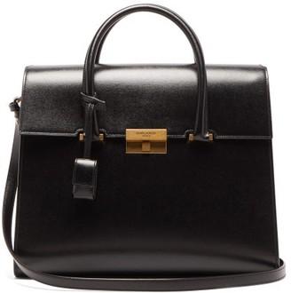 Saint Laurent Bianca Grained-leather Handbag - Black