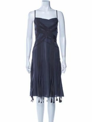 Chanel 2002 Knee-Length Dress Grey