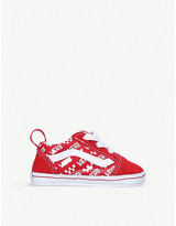 Vans Old Skool logo-print suede and canvas low-top trainers 0-12 months