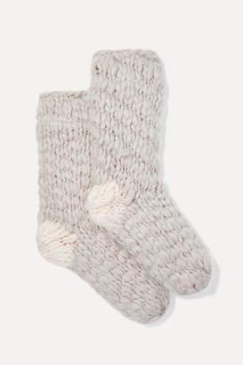 Eberjey The Scout Knitted Socks - Ecru