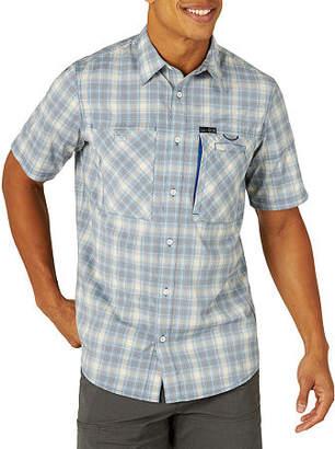 Wrangler All Terrain Gear Mens Short Sleeve Plaid Button-Front Shirt