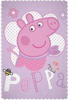 Peppa Pig 'Happy' Fleece Blanket - Large Print Design