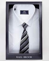 Rael Brook White S/S Shirt And Tie Set R