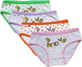 CHUNG Toddler Little Girls 95% Cotton Underwear Briefs Panty 3-8Y Pack of 4