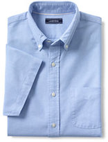 Lands' End Men's Tall Short Sleeve Solid Sail Rigger Oxford Shirt-Maritime Teal