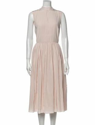 Adam Lippes Silk Midi Length Dress Pink
