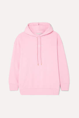 Stella McCartney + Net Sustain Oversized Printed Organic Cotton-jersey Hoodie - Pink
